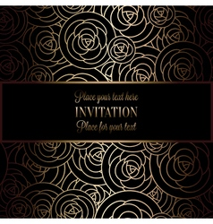 Invitation decorative golds 40 vector