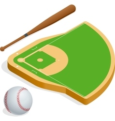 Isometric elements baseball set vector image