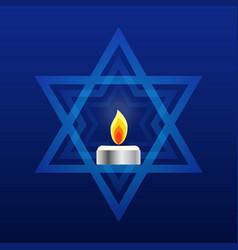 Israel memorial day yom hazikaron star david vector