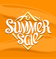 lettering summer sale vector image