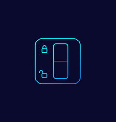 lock switch linear icon vector image