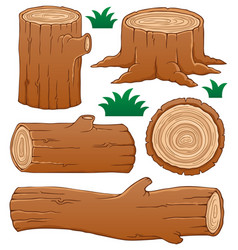 Log theme collection 1 vector