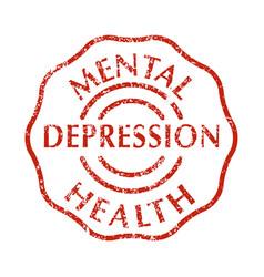 mental disorder depression stamps vector image