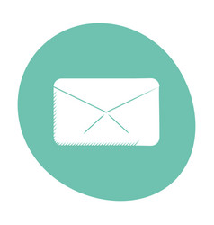 message envelope email communication icon color vector image