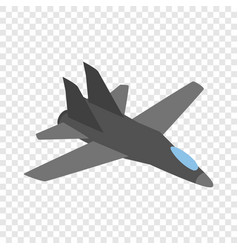 military aircraft isometric icon vector image