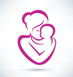 Mom and baby icon vector