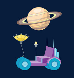 moonwalker with radar and manipulator spaceship vector image