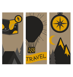mountain outdoor camping travel flayer hand vector image