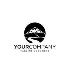 Mountain view for logo design editable vector