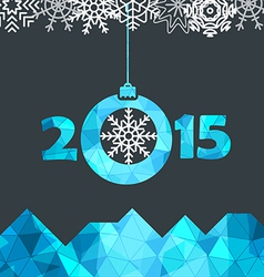 New Year greeting card with snowflakes vector