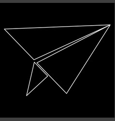 Paper airplane the white path icon vector