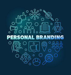 personal branding circular blue outline vector image