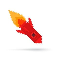 Pixel Rocket vector image