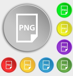 PNG Icon sign Symbol on eight flat buttons vector