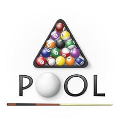 Pool billiards background vector