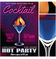 poster template for cocktail party vector image