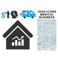 Realty Charts Icon with 1000 Medical Business vector