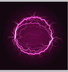 Red electric plasma ball sphere with powerful vector