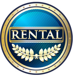 Rental gold icon vector