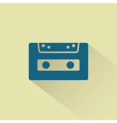 Retro audio cassette icon vector image