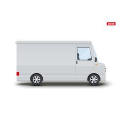 Retro service van minibus vector