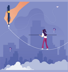 risk challenge in business concept vector image