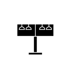 rotating billborad black concept icon vector image