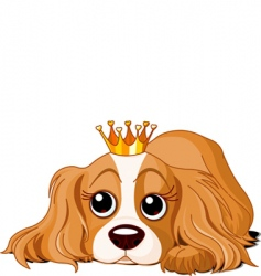 Royalty dog vector