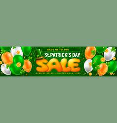 saint patricks day sale horizontal banner vector image