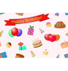 Seamless background on a theme birthday vector image