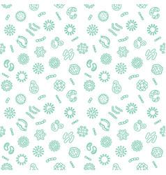 Seamless pattern with pathogen virus vector