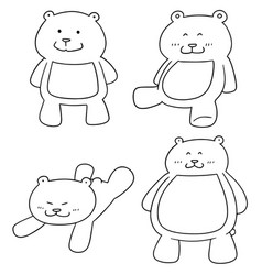 Set of bear vector