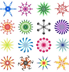 Set of design elements spiral in colors vector image