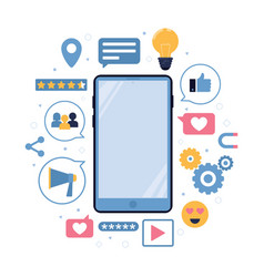 Social and connection marketing mobile vector