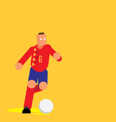 Spain player dribbling ball flat vector