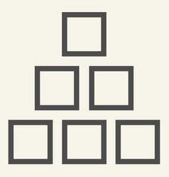 square chart line icon diagram vector image