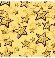 Star fruit pattern vector