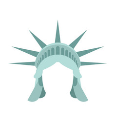 statue of liberty template face head mock up hair vector image