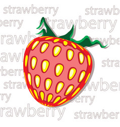 strawberry fruit plant berry graphic element for vector image