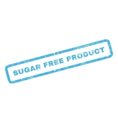 Sugar Free Product Rubber Stamp vector