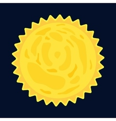 Sun burst star icon cartoon style vector image