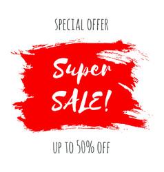 super sale lettering inscription special offer vector image