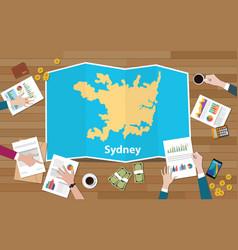 Sydney australia capital city region economy vector