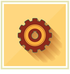Technology Mechanical Gear Flat Icon vector image
