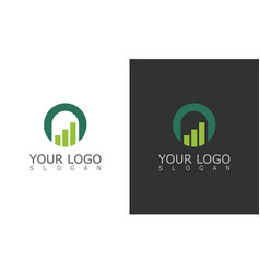 trade circle business logo vector image
