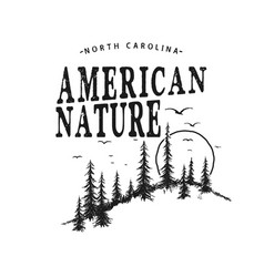 Typography logo with forest vector
