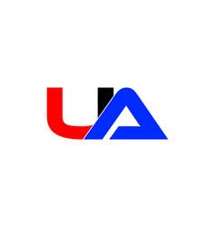 Ua letter logo vector