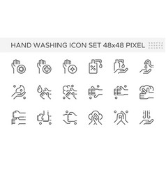 Wash hands and hygiene icon set design 64x64 vector