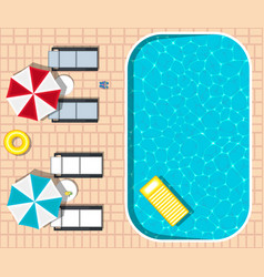 Water park banner with swimming pool vector
