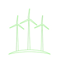 Wind turbines concept of ecological energy vector
